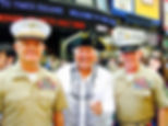 Robert in Times Square, NY with 2 Generals