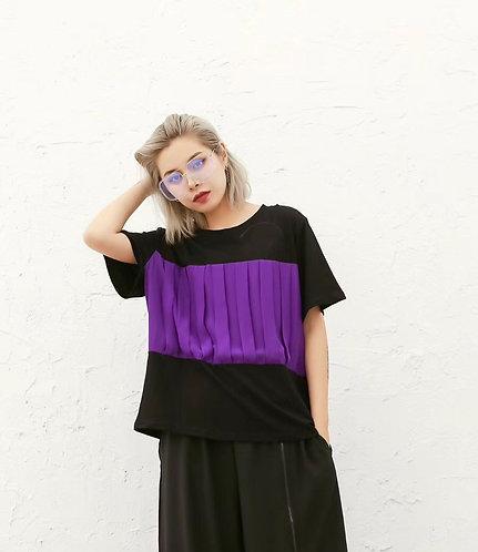 直條剪紋 (紫/黑)