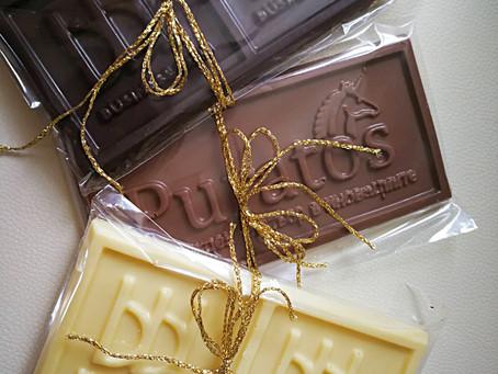 3Д принтиани шоколади с лого