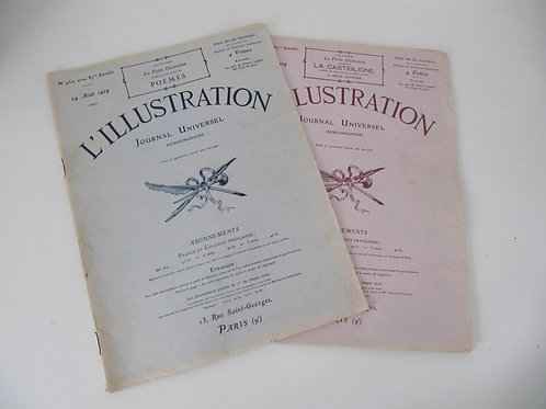 "Journal L'Illustration 1929 - (le lot de 2 numéros) - ""Port inclus"""