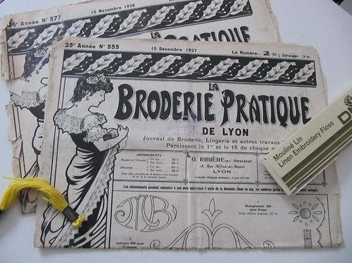 Journaux de Broderie anciens de 1929- le lot de 2