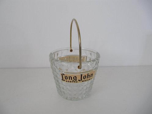 Sceau à glaçons verre Long John - années 60- 70