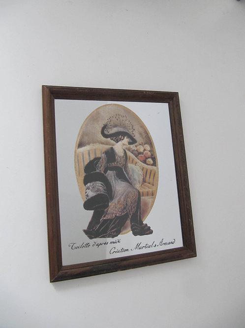 Miroir ancien dessin Mode de Martial's Armand