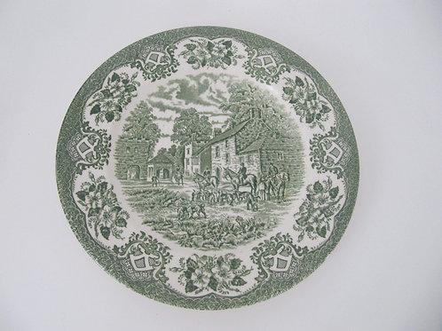 Assiette ancienne décor chasse à cour- England