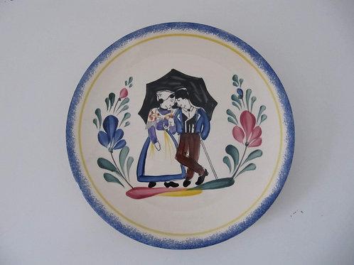 Assiette céramique couple de Vendéen