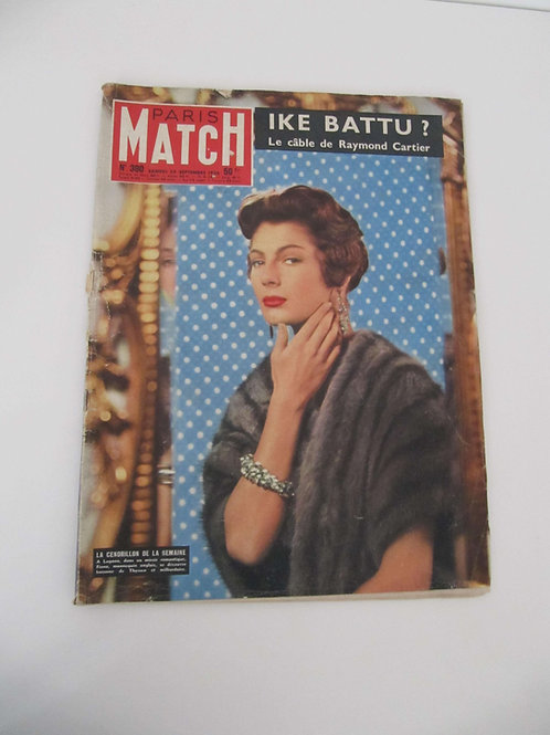 "Paris Match 29 septembre 1956 - ""Port inclus"""