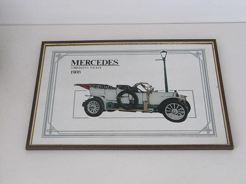 Miroir publicitaire Mercedes vintage