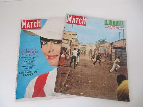 """Paris Match avril 1967 - le lot de 2 - """"Port inclus"""""""