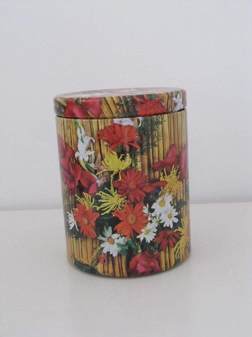 Boîte métal fleurs années 60- Massilly