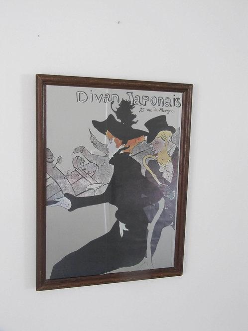 Miroir vintage Le divan Japonais - Toulouse Lautrec