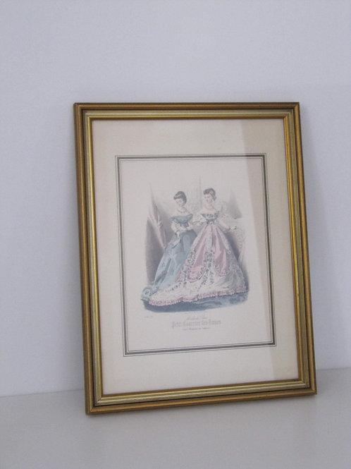 Gravure ancienne Mode de Paris - encadrée