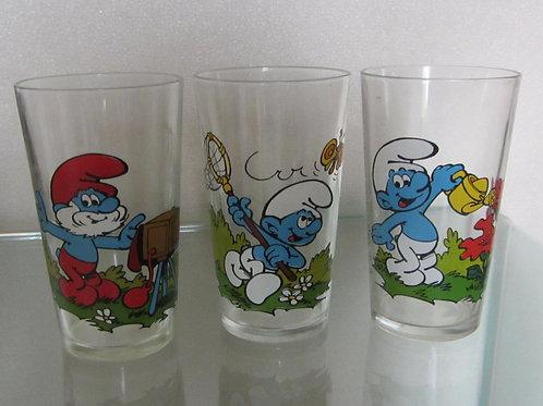 Schtroumpfs - verres de 1984 (le lot de 3)
