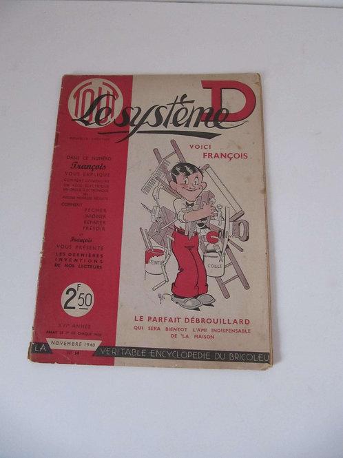 """Magazine le système D de 1940 - """"Port inclus"""""""