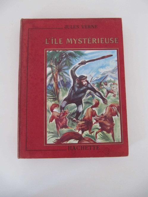 """Jules Verne -l'ile mystérieuse- livre de 1948 - """"Port inclus"""""""