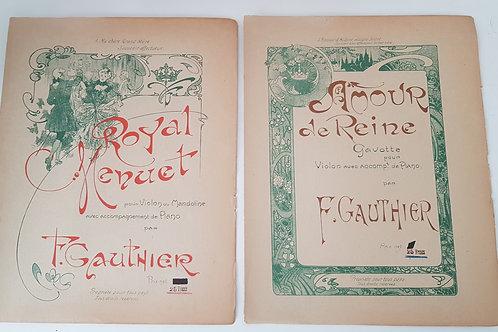 Partitions anciennes violon et piano - Royal Menuet et Amour de Reine