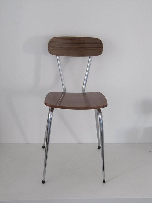 Chaise formica marron vintage
