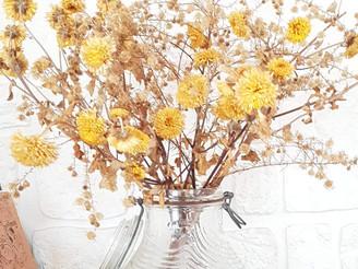 Un bocal vintage pour fleurs séchées..