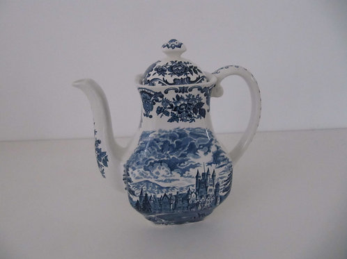 Céramique anglaise bleue - Cafetière Royal Houses of Britain