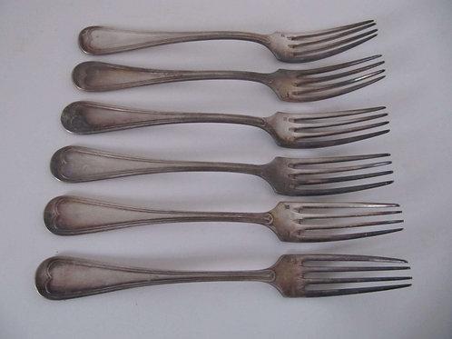 Argenterie ancienne - 6 fourchettes