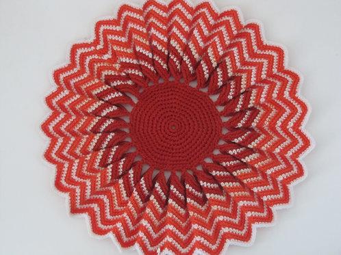 Napperon laine crochet vintage