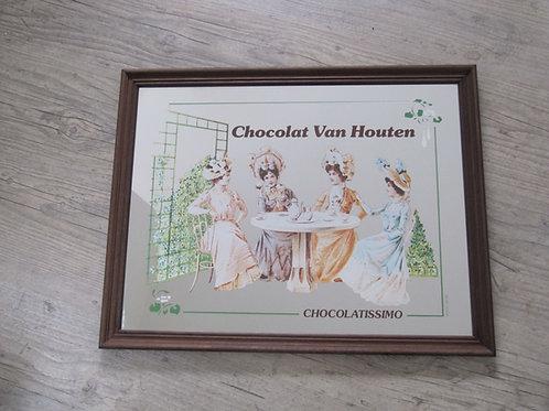 Miroir publicitaire vintage Chocolat Van Houten