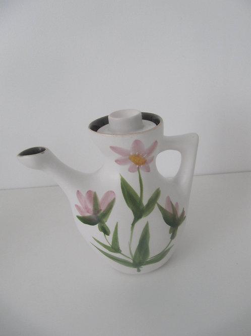 Vase céramique vintage motifs fleurs