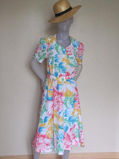 Robe fleurie Devernois Vintage - T40