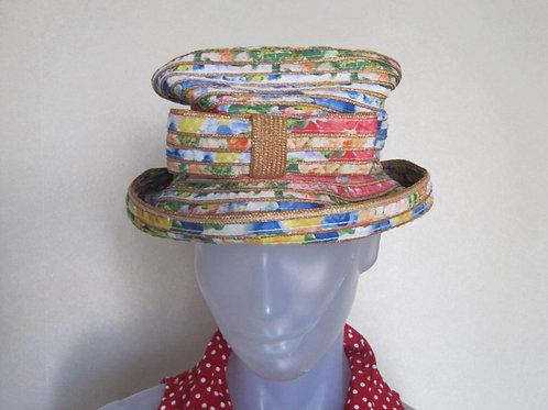 Chapeau tissage multicolor - vintage