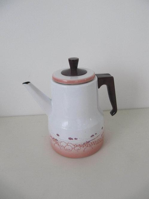 Cafetière émail- poignée bakélite vintage
