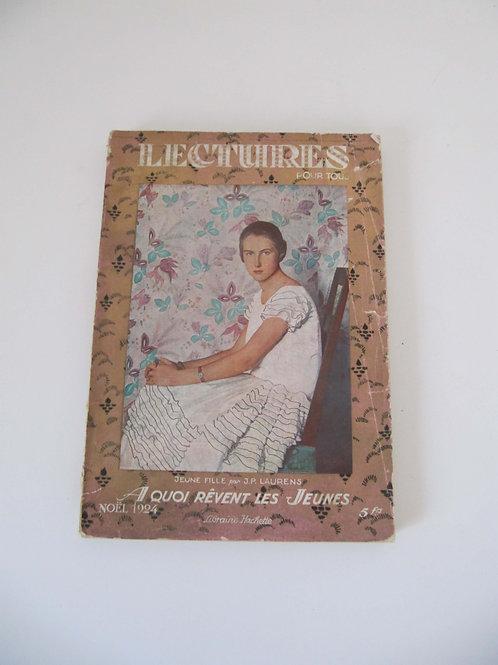 """Journal lecture pour tous de Noël 1924 -""""Port inclus"""""""
