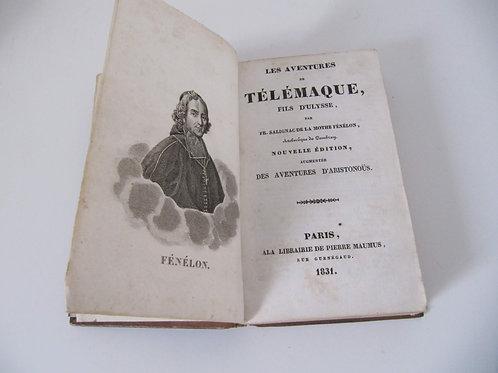 """Les aventures de Télémaque - livre de 1831 - """"Port inclus"""""""