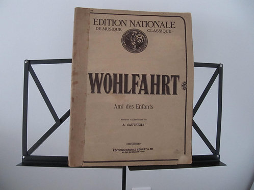 Partitions piano de 1929- Wohlfahrt et Gallini