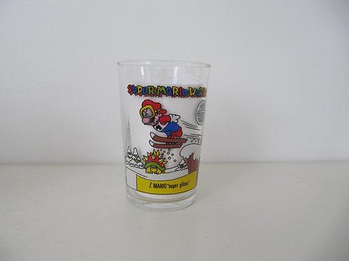 Super Mario - le verre -  Mario super gliss - Vintage