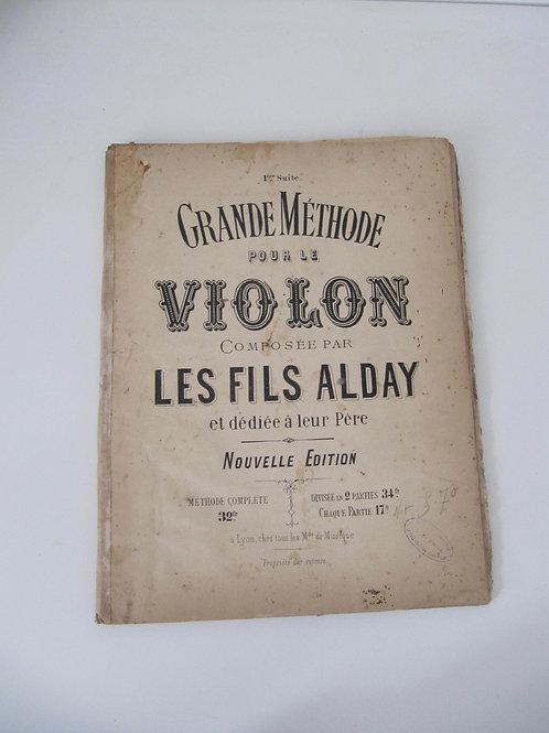 Méthode pour violon des années 30- Les Fils Alday