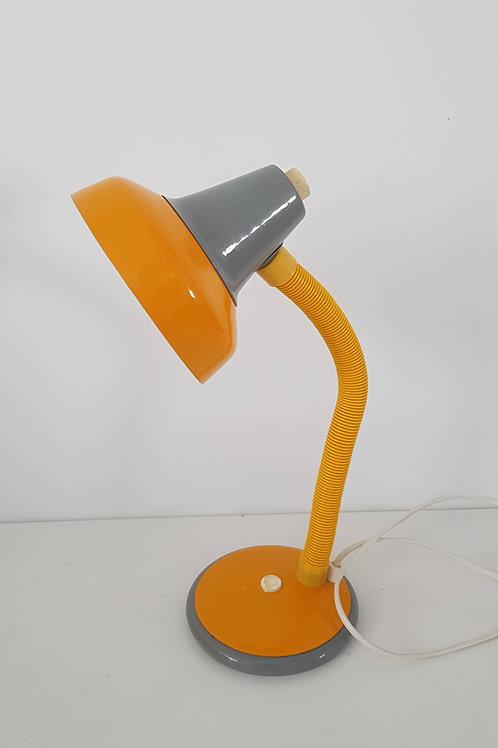 Lampe de bureau vintage jaune et grise