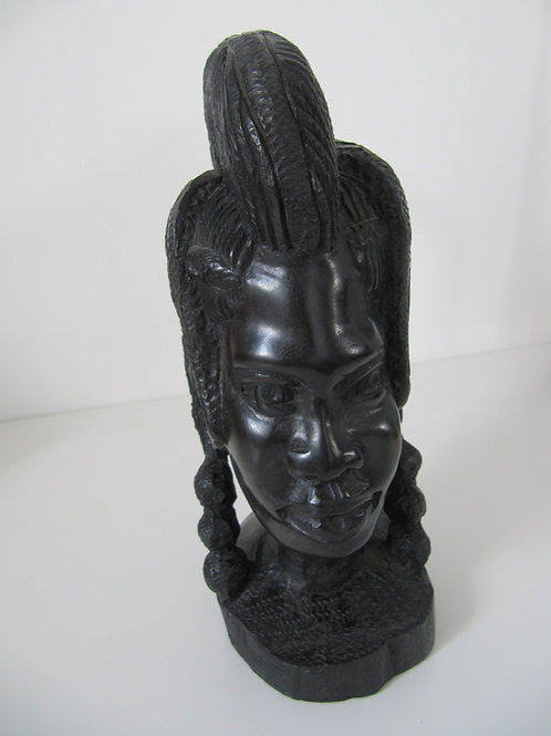 Statue Africaine ébène buste femme