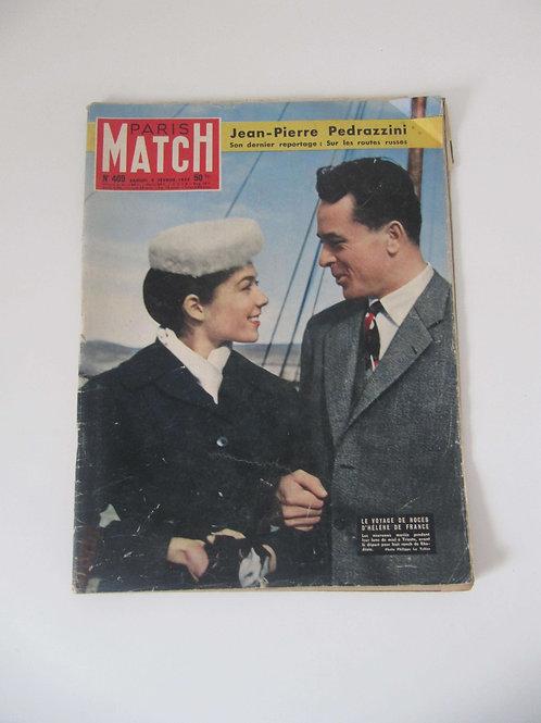 """Paris Match février 1957 - """"Port inclus"""""""