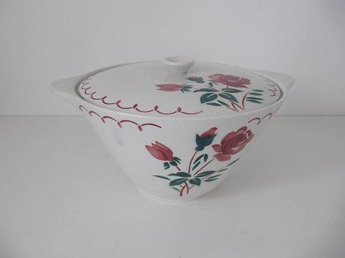 Soupière ancienne céramique décor de roses
