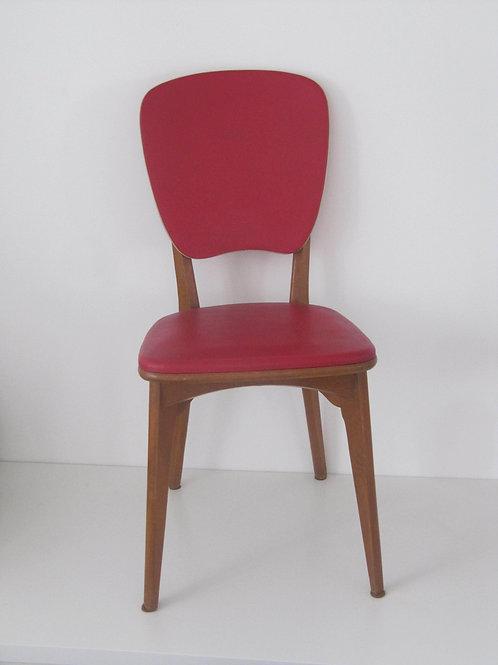 Chaise sky rouge MONOBLOC vintage