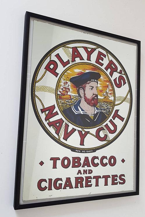 Miroir publicitaire vintage Player's navy y cut