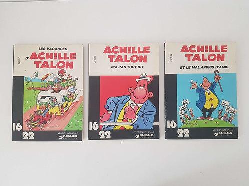 Lot de 3 BD Achille Talon collection 16/22  (port inclus)