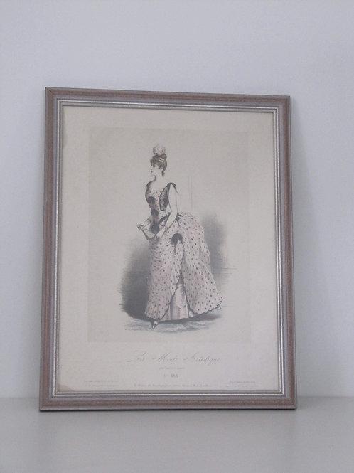 Gravure de mode ancienne encadrée - Gustave Janet