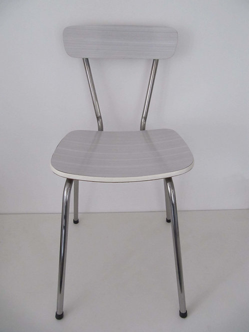 Chaise formica blanc-gris