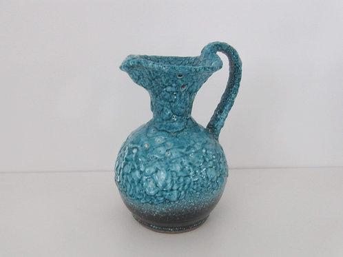 Vase céramique bleu - années 50-60