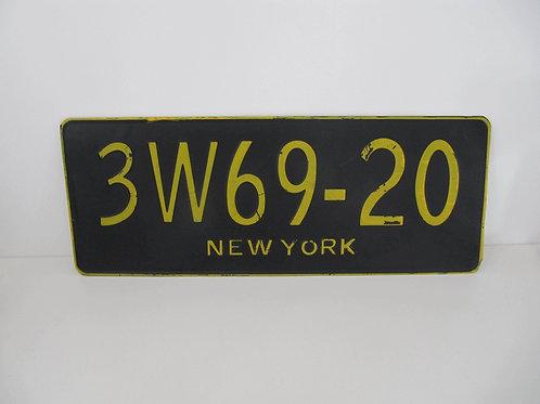 Plaque métal immatriculation USA
