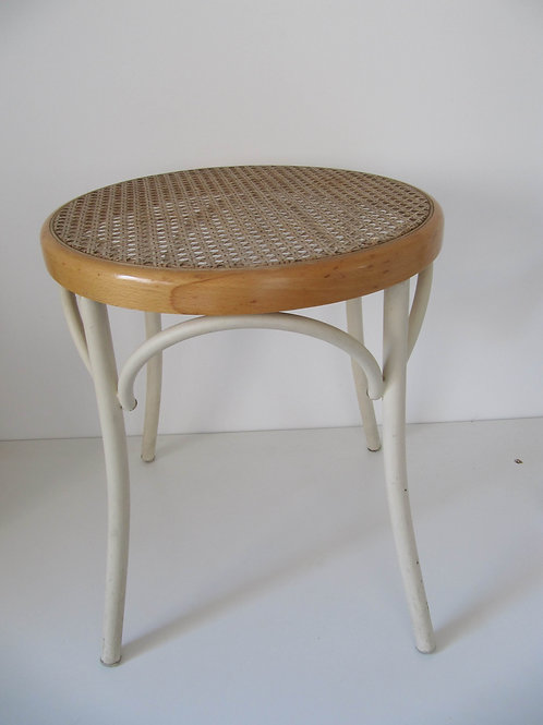 Tabouret rond assise cannage