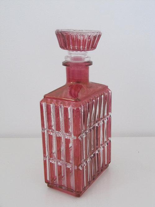 Carafe ancienne -verre rose