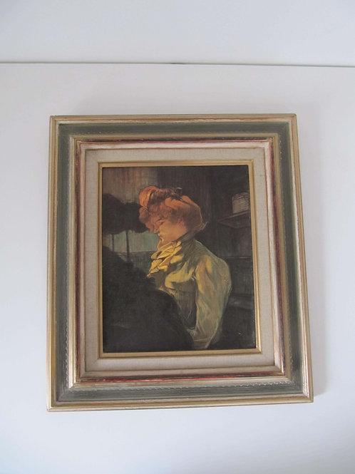 Reproduction huile sur toile - Toulouse Lautrec - La modiste