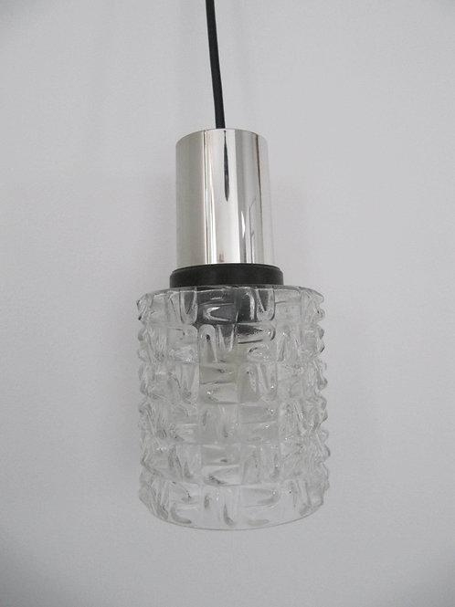 Suspension verre et chrome vintage