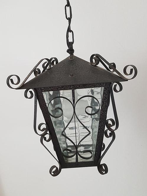 Suspension lanterne fer forgé vintage